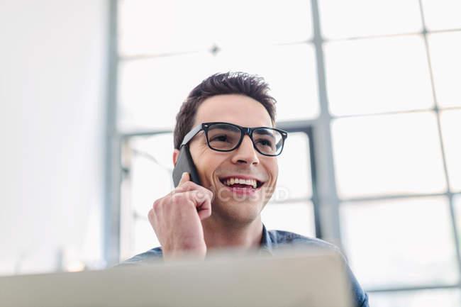 Man making phonecall — Stock Photo