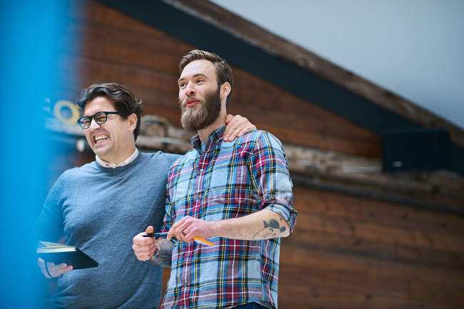 Two happy male designers — Stock Photo