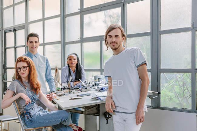 Portrait of colleagues in studio — Stock Photo