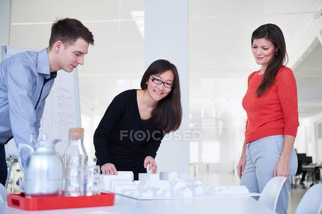 Colleagues in architect office — Stock Photo