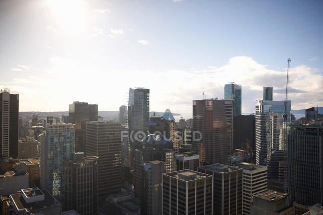 Stadtbild der Wolkenkratzer, Vancouver — Stockfoto