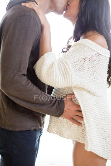 Pregnant woman and mature man — Stock Photo