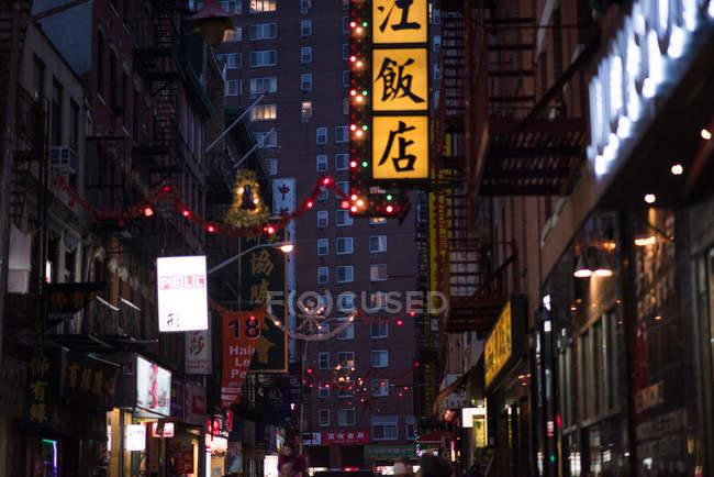 Vue de Chinatown la nuit — Photo de stock
