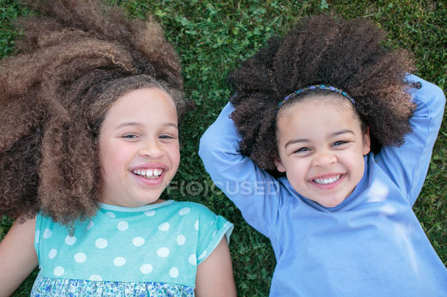 Portrait of two young girls — Stock Photo