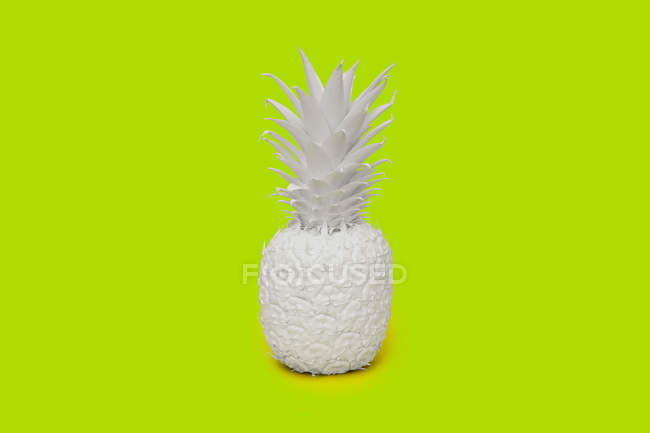 Pineapple painted white — Stock Photo