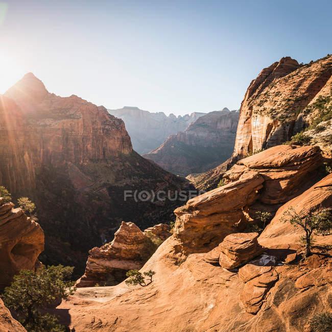 Malerische Aussicht des Zion National Park — Stockfoto