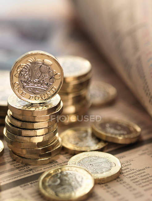 Still life of British currency — Stock Photo