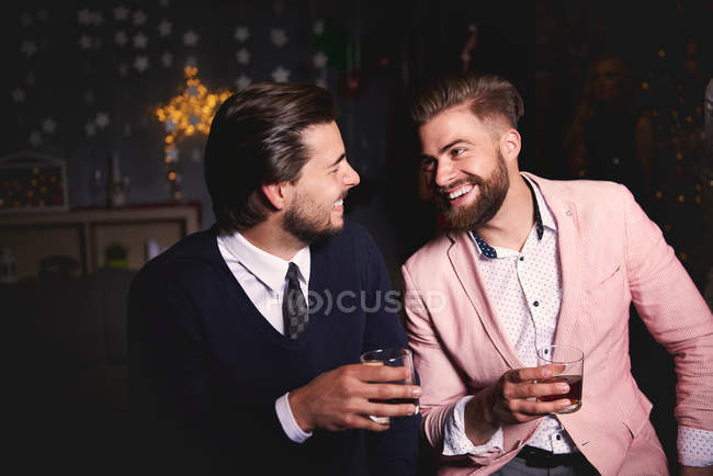 Two men at party — Stock Photo