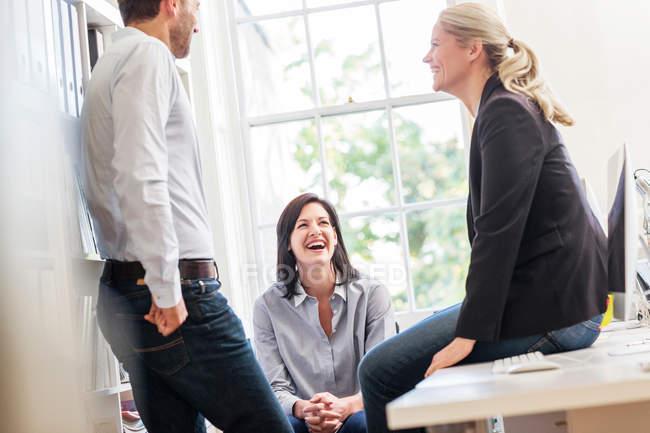 Design team having discussion — Stock Photo