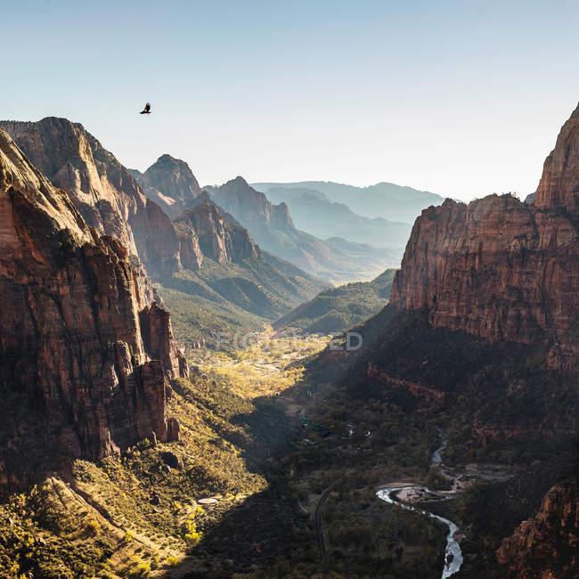Ангелы посадки, Национальный парк Зайон — стоковое фото