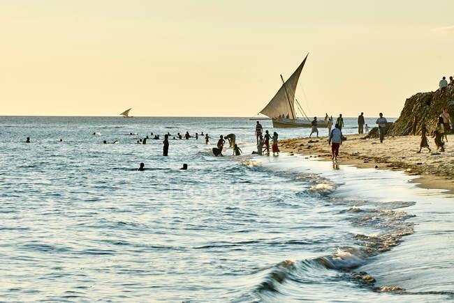 Персоналии: Пляж, Занзибар — стоковое фото