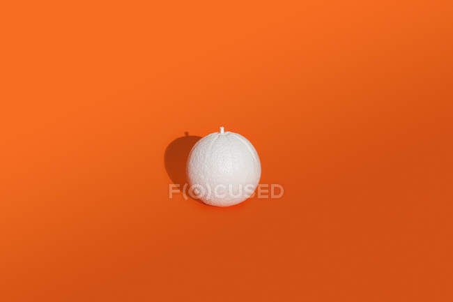 Orange painted white — Stock Photo