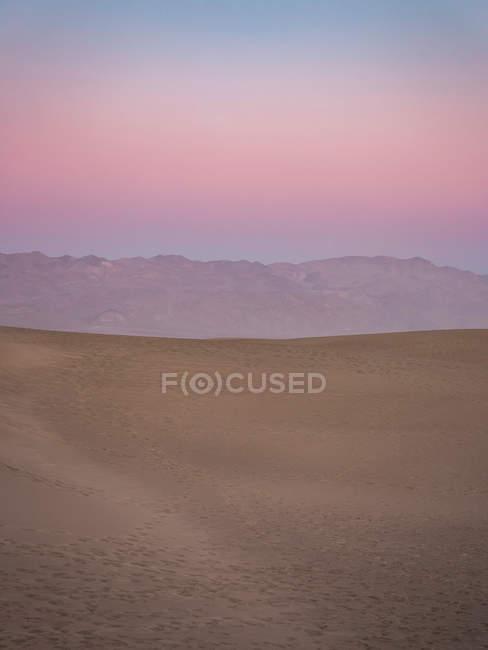 Coucher de soleil sur Mesquite Flat Sand Dunes — Photo de stock