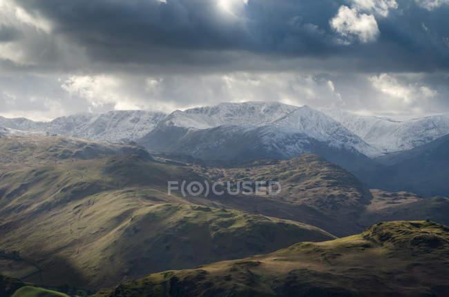 Paisaje vista desde Arthurs Pike - foto de stock