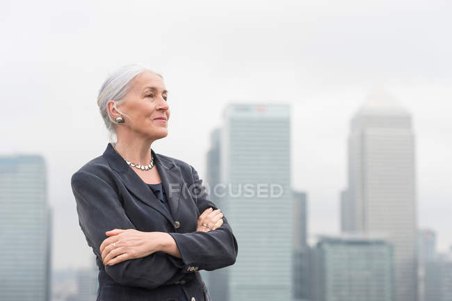 Confident mature businesswoman — Stock Photo