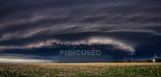 Unwetter über ländlichem Raum — Stockfoto