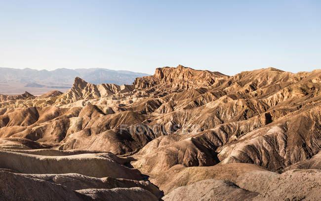 Zabriskie Point paesaggio formazione rocciosa — Foto stock