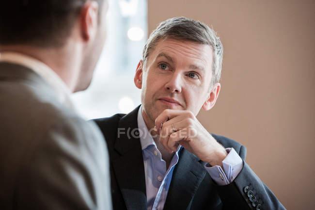 Businessmen during meeting — Stock Photo