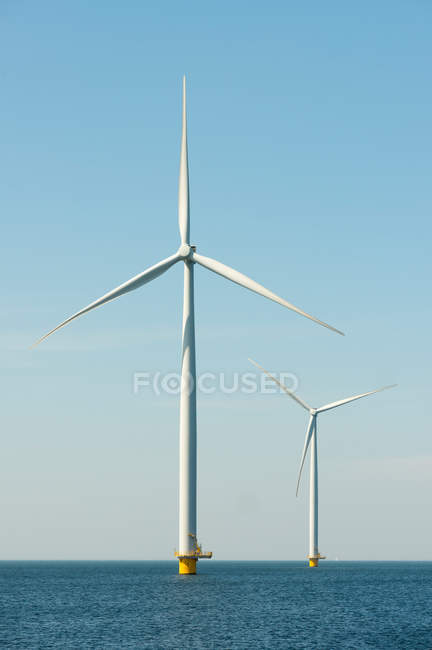 Off shore wind turbines — Stock Photo