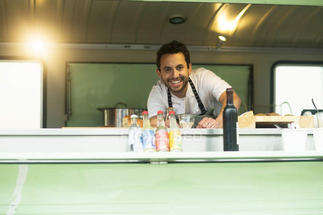 Власник бізнесу в Ван їжі стійло Люк — стокове фото