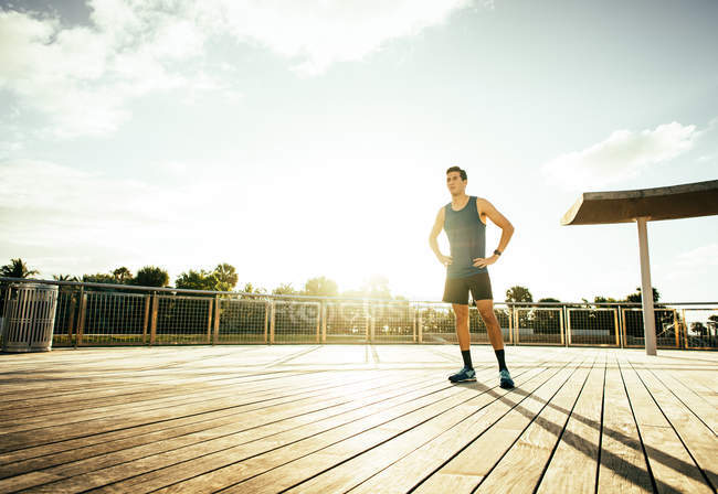 Young man wearing sports clothing — Stock Photo
