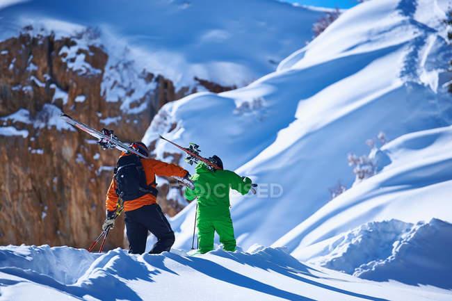 Deux skieurs masculins — Photo de stock