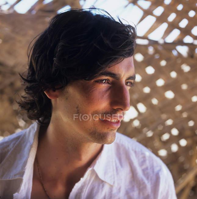 Man with mid length hair — Stock Photo