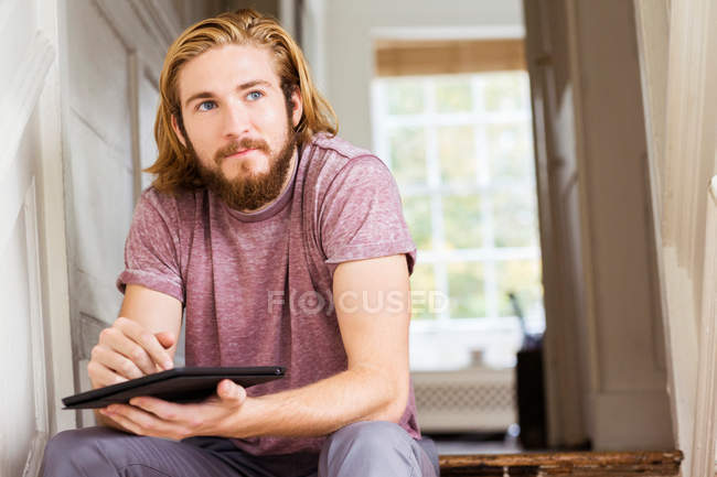 Male designer contemplating — Stock Photo