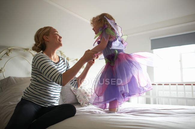Young girl dressed in fairy costume — Stock Photo