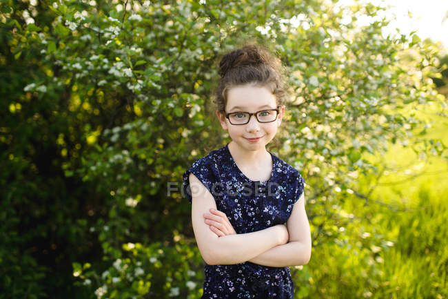 Girl wearing eye glasses — Stock Photo