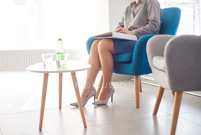 Candidate waiting at job interview — Stock Photo