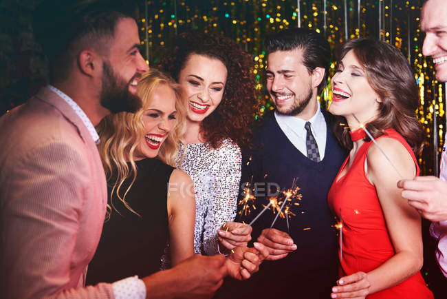 Group of people at party — Stock Photo