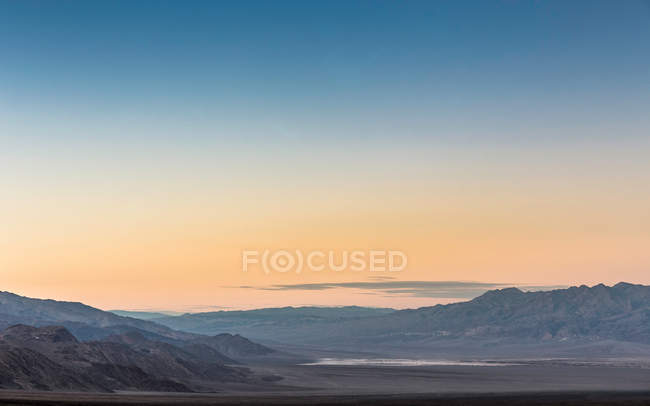 Sunset over Death Valley National Park — Stock Photo