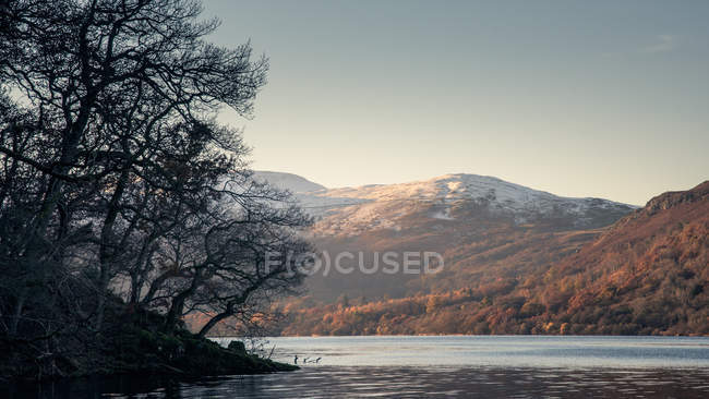 Snow capped mountains at Ullswater — Stock Photo