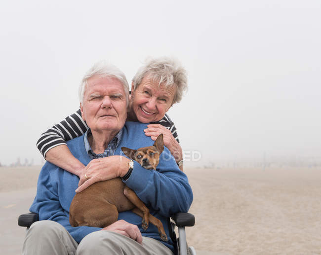 Senior man in wheelchair — Stock Photo