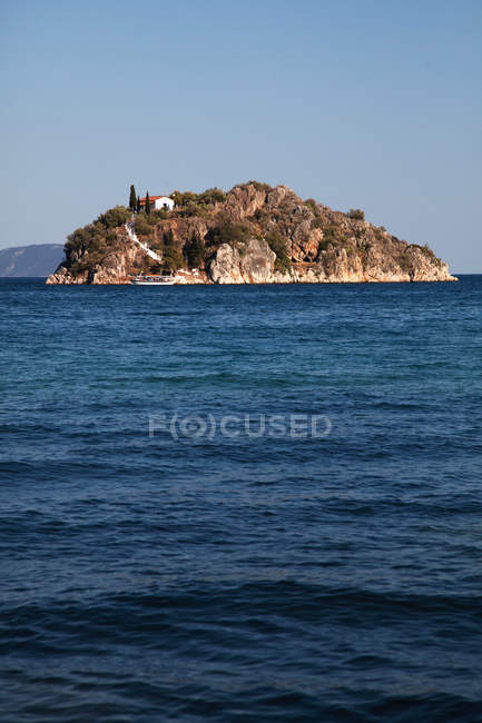 View of Seascape and island — Stock Photo