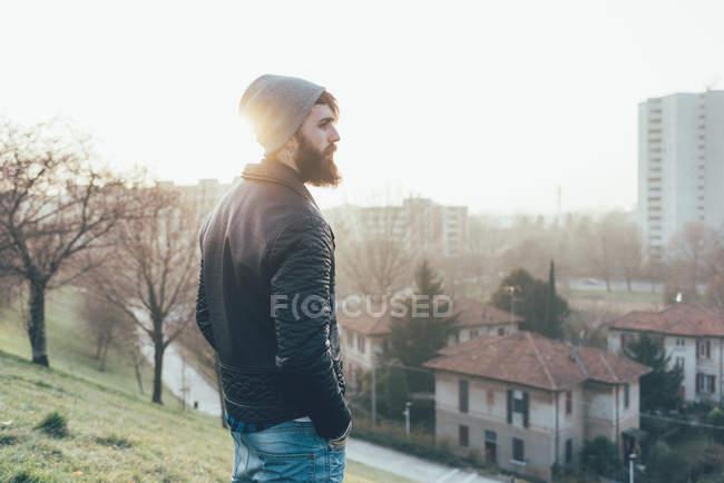 Битник, видом на город — стоковое фото