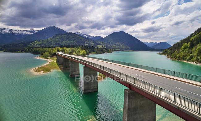 Sylvenstein Dam, Karwendel Mountains — стоковое фото