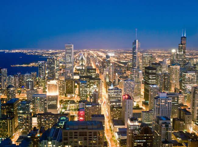 Luftaufnahme der Innenstadt Chicagos — Stockfoto