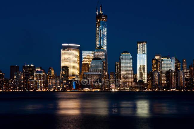 Skyline вид Манхеттена з Джерсі-Сіті — стокове фото