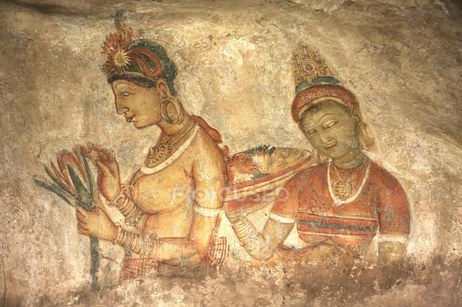Mural de hembras, Sigiriya - foto de stock