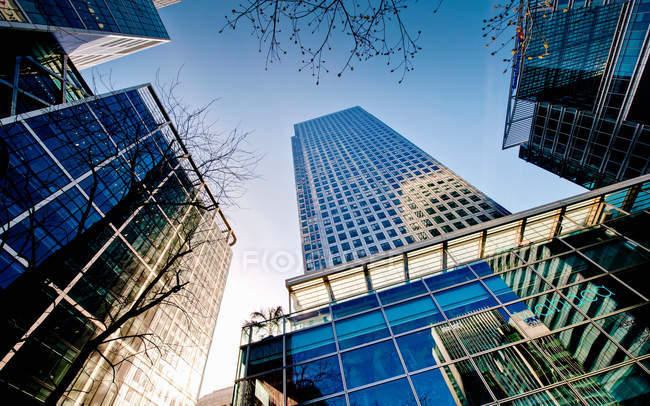 View of urban skyscrapers — Stock Photo