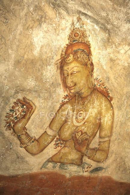 Mural de la mujer, Sigiriya - foto de stock