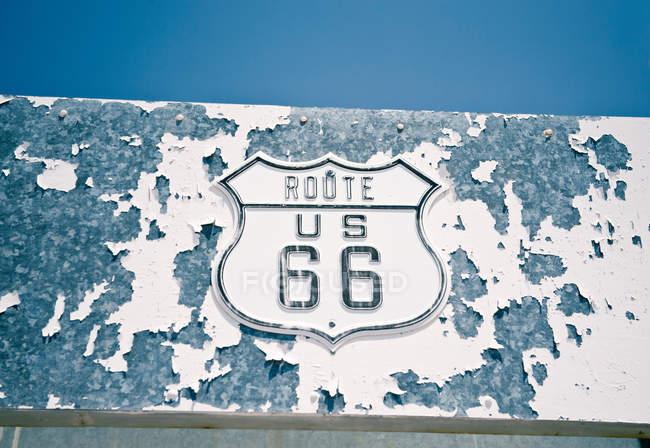 Signe de la route 66 — Photo de stock
