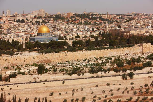 Vista do monte do templo do monte Sião — Fotografia de Stock
