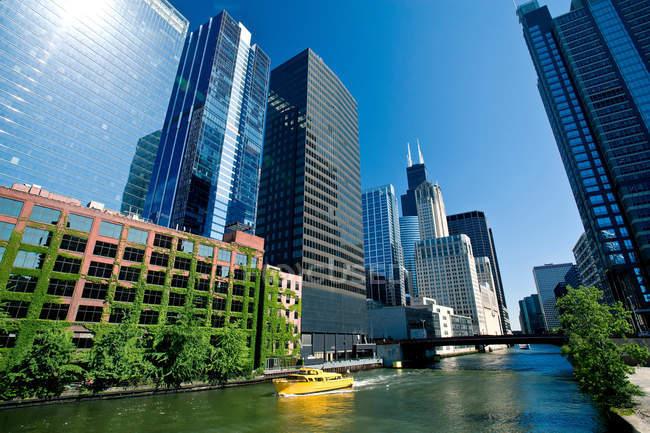 Bucle del centro de Chicago - foto de stock