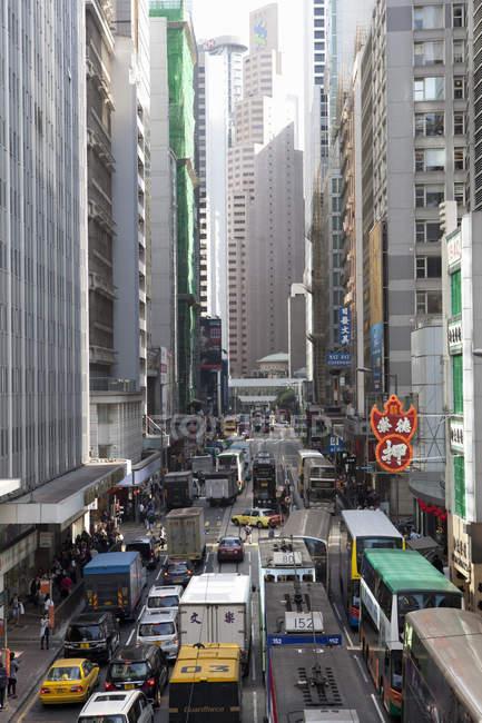 Tráfico de la calle en Hong Kong - foto de stock