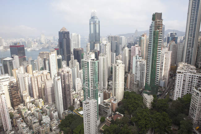 View from skyscrapers on Hong Kong — Stock Photo