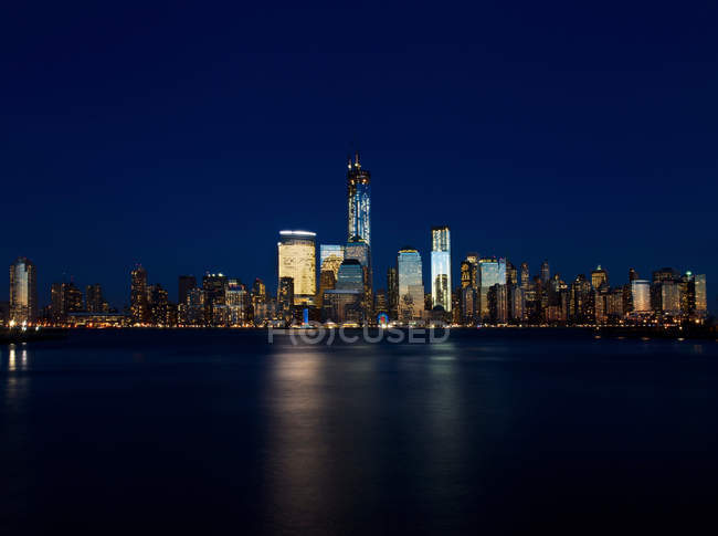 Horizonte de Manhattan view de Jersey City - foto de stock