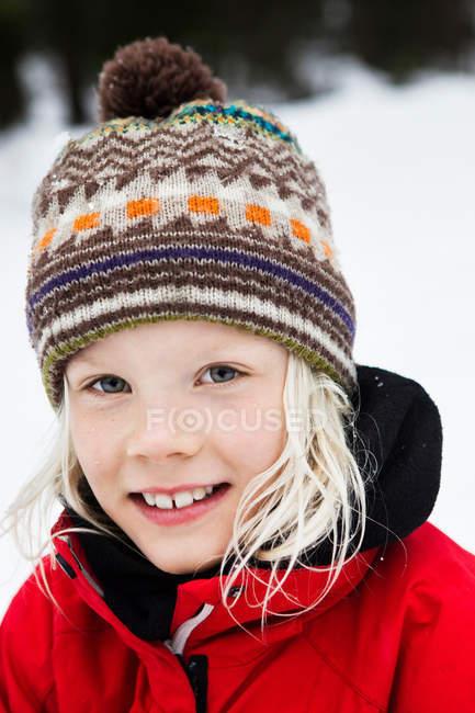 Retrato de chica sonriente - foto de stock